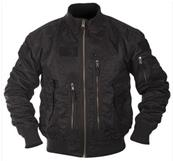 US Tactical Flight Jacket Noir